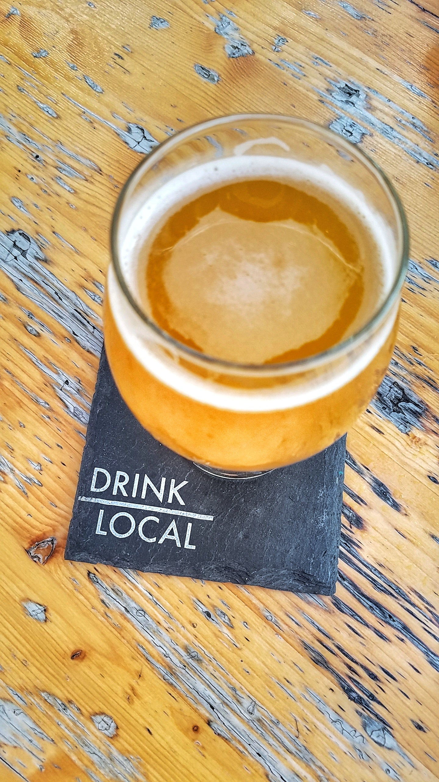 Drink Local Slate Coaster