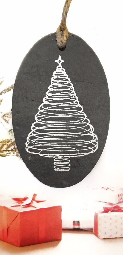 Christmas Tree Slate Ornament