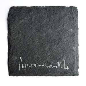 Chicago Skyline Slate Coaster