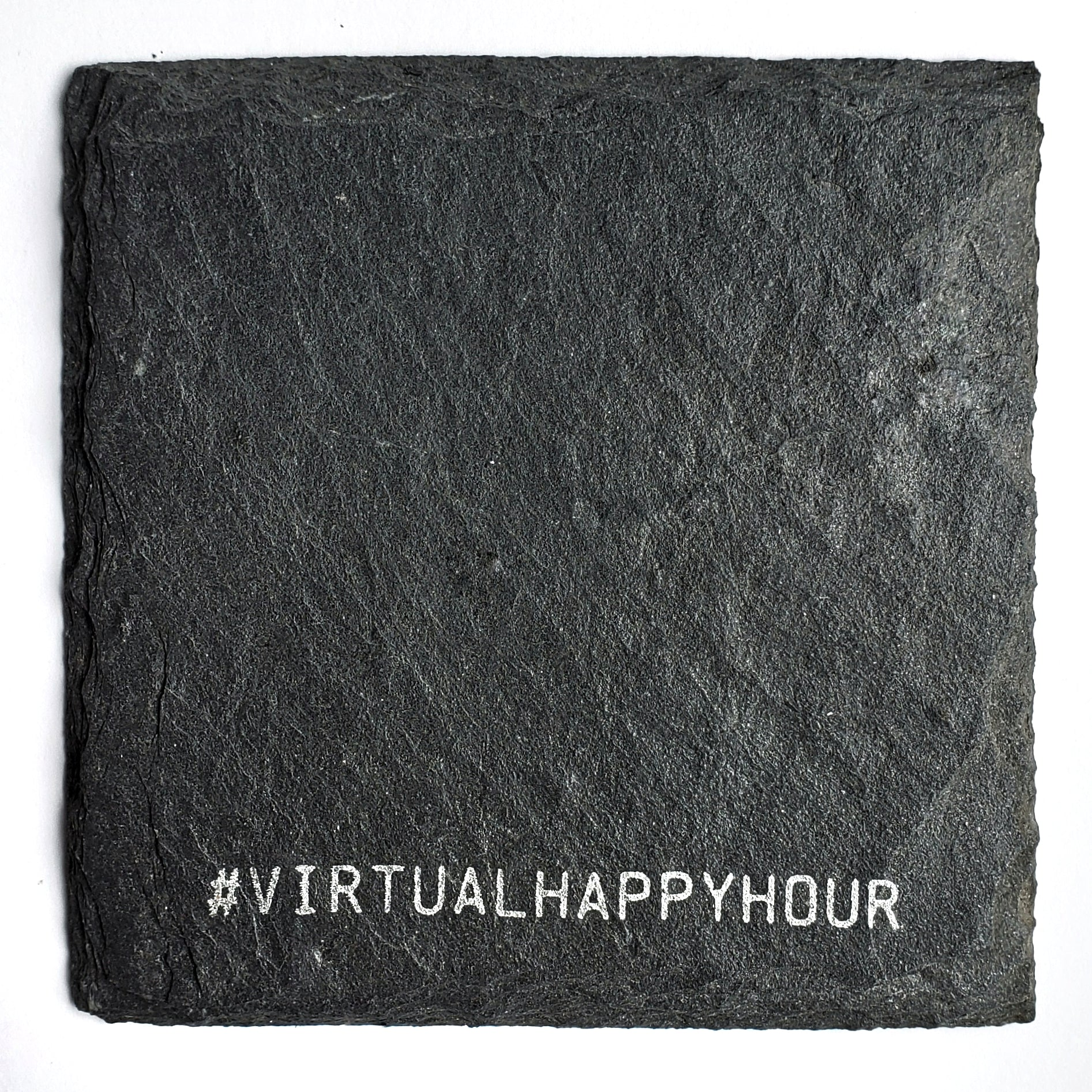 Virtual Happy Hour Slate Coaster
