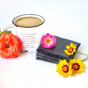 Life Mantra Mug + Every Day is a Fresh Start Coaster Set