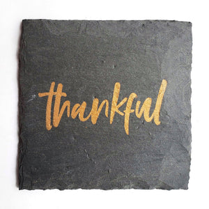 Thankful Slate Coaster