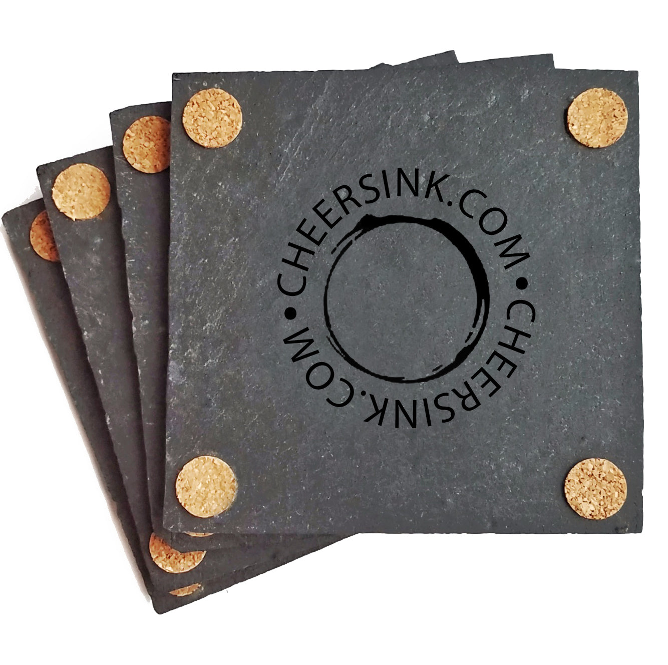 Fourth of July Wine and Beer Slate Coasters