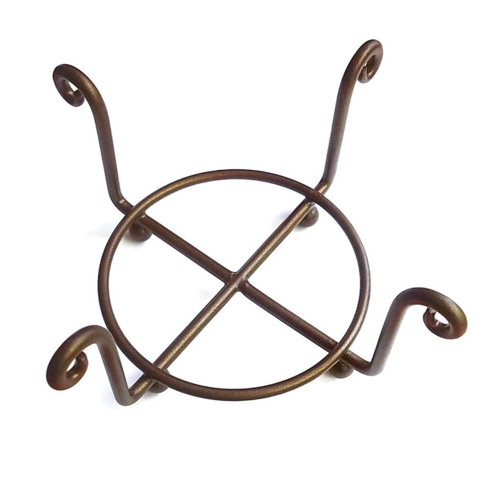 Bronze Swirl Metal Coaster Holder