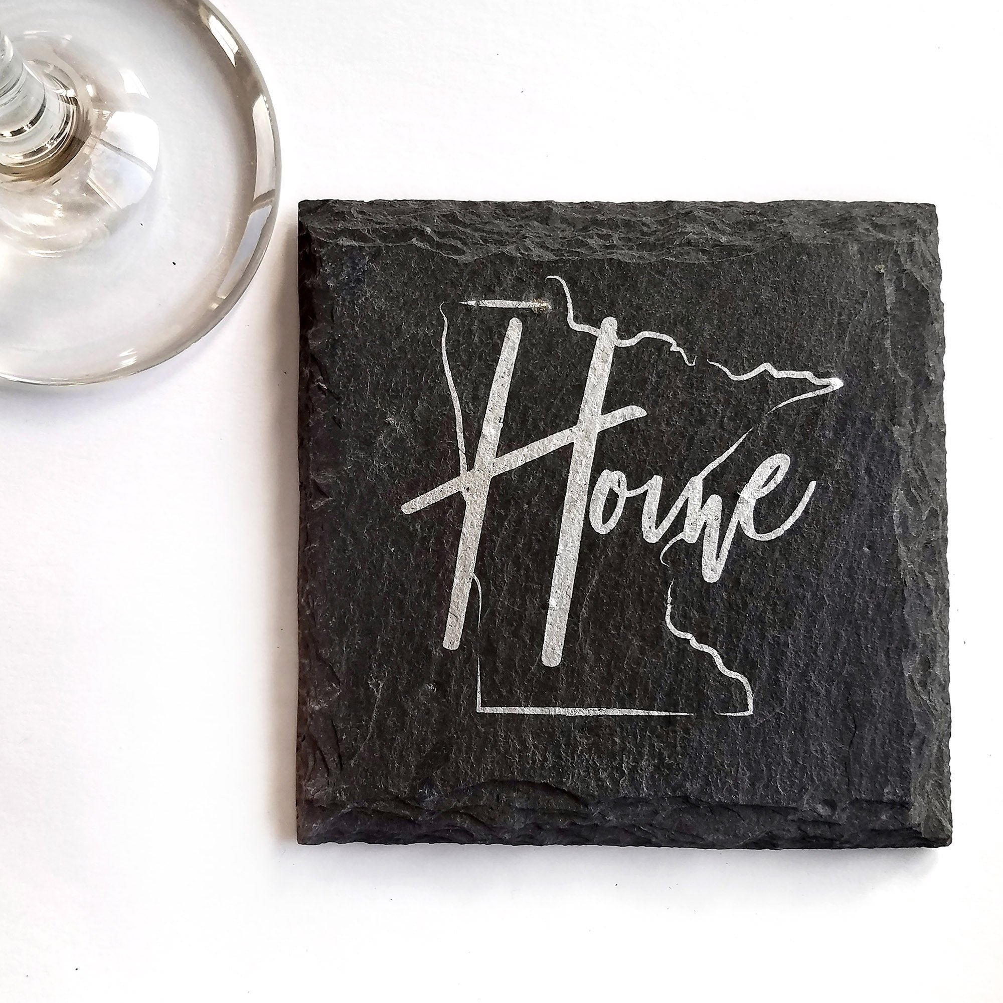 Minnesota Home Slate Coaster