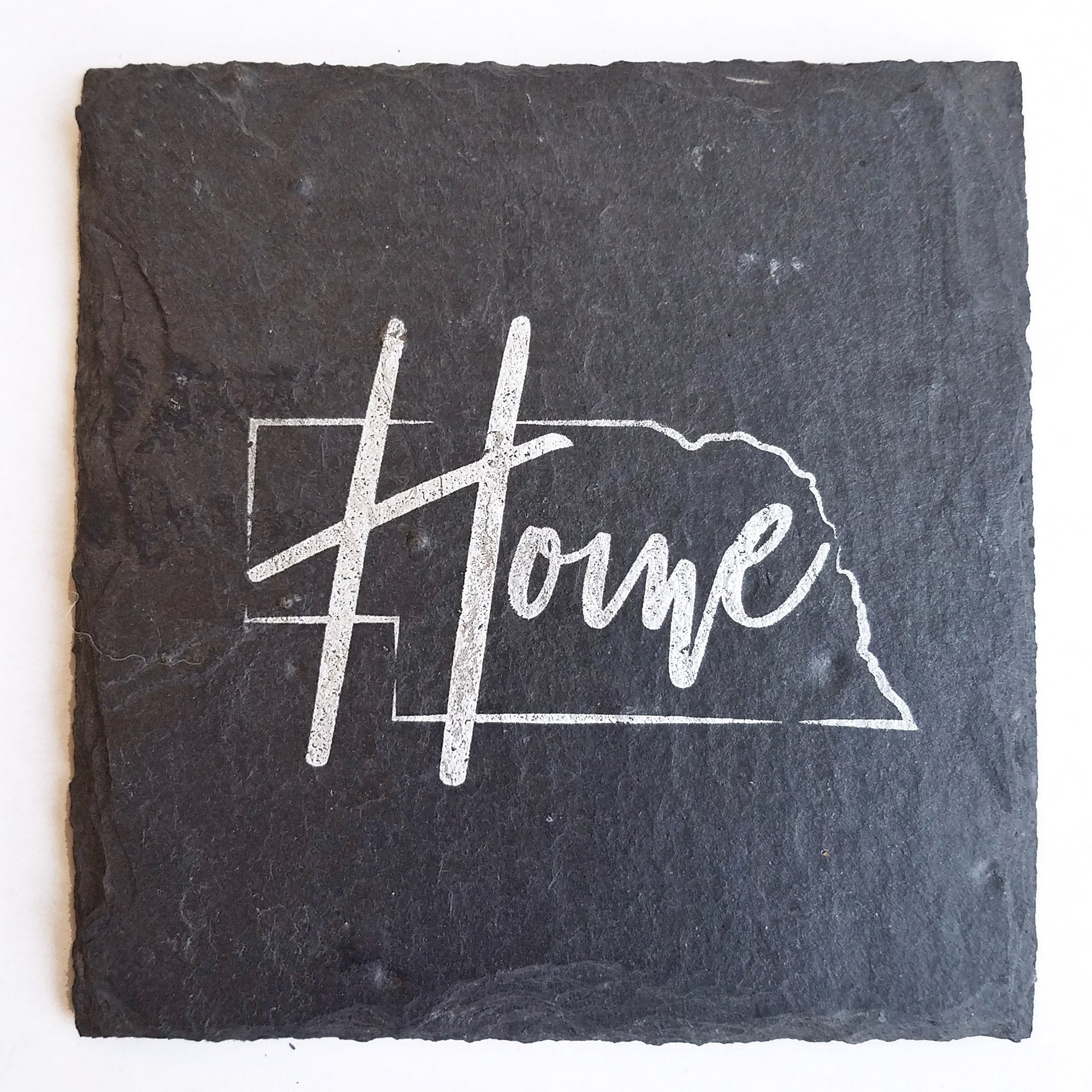Nebraska Home Slate Coaster
