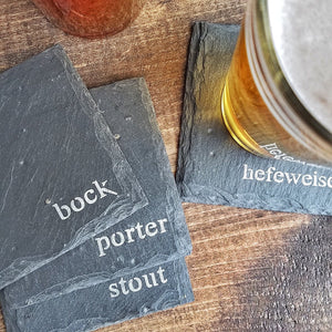 Craft Beer Slate Coaster