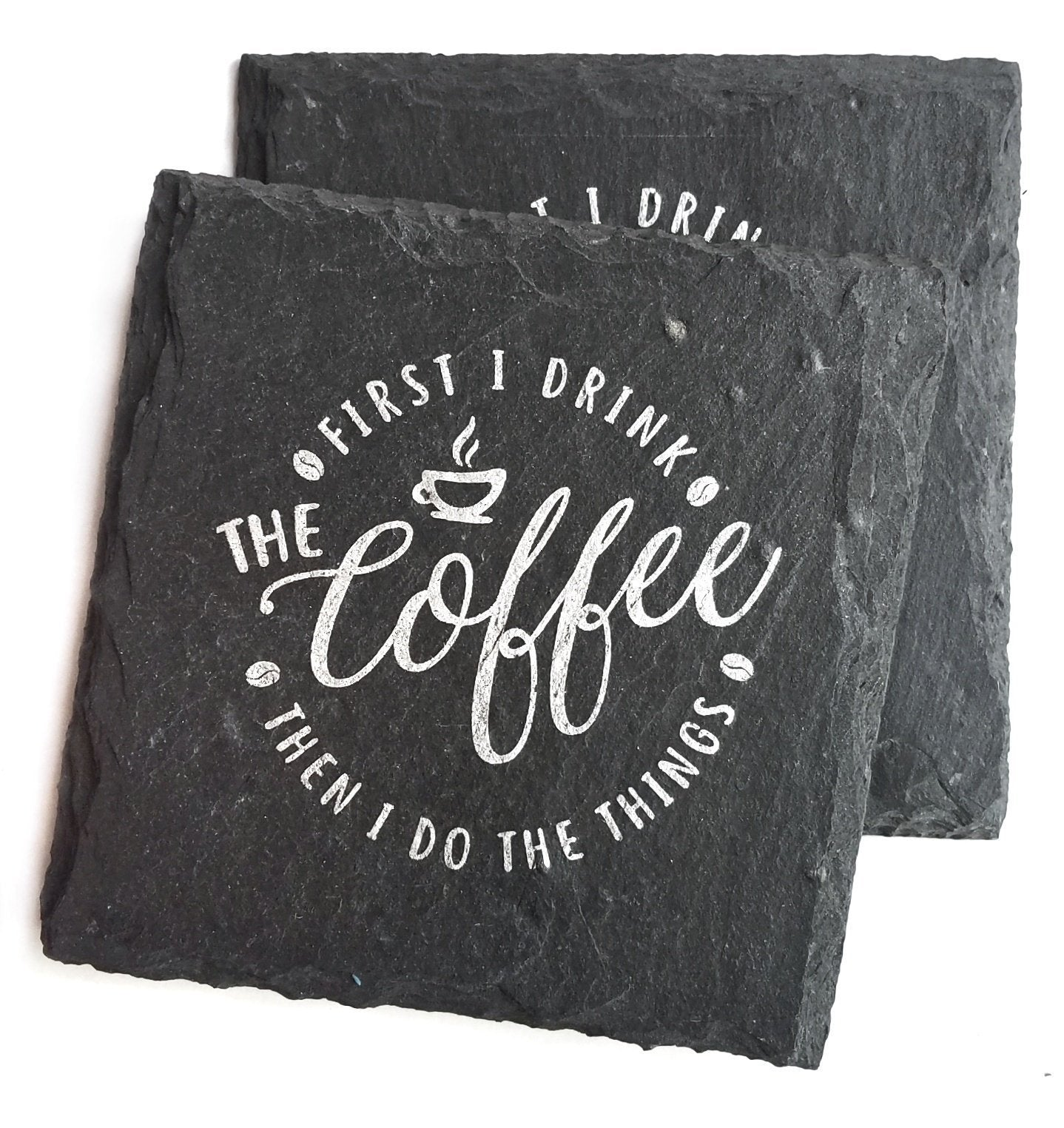 All the Coffee and Things Slate Coaster