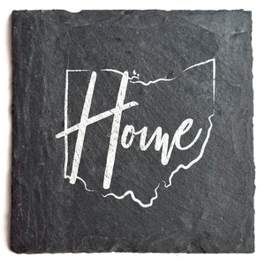 Ohio Home Slate Coaster