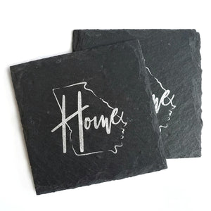 Georgia Home Slate Coaster