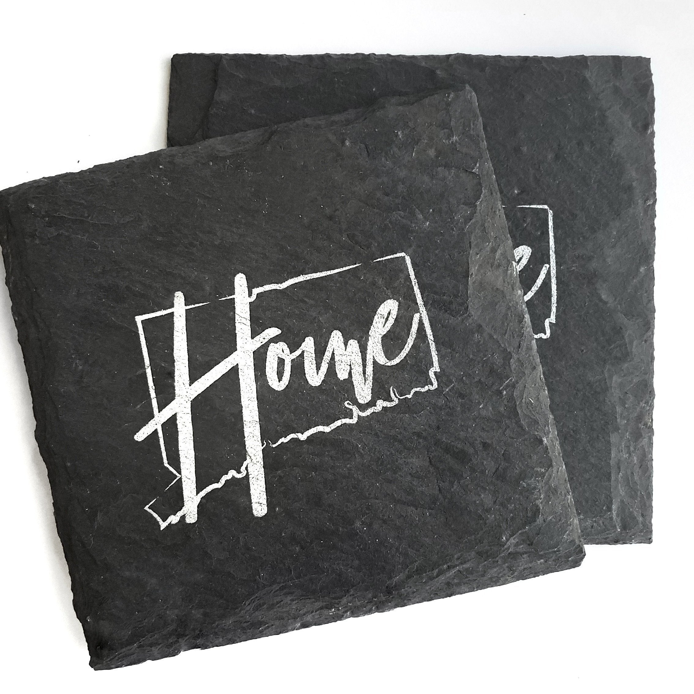 Connecticut Home Slate Coaster