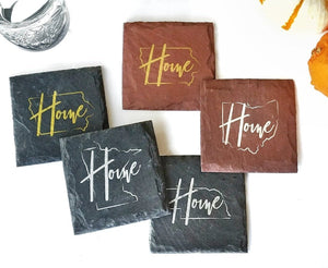 Love Where You Live Gift Set with Coasters & Holder