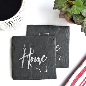 California Home Slate Coaster