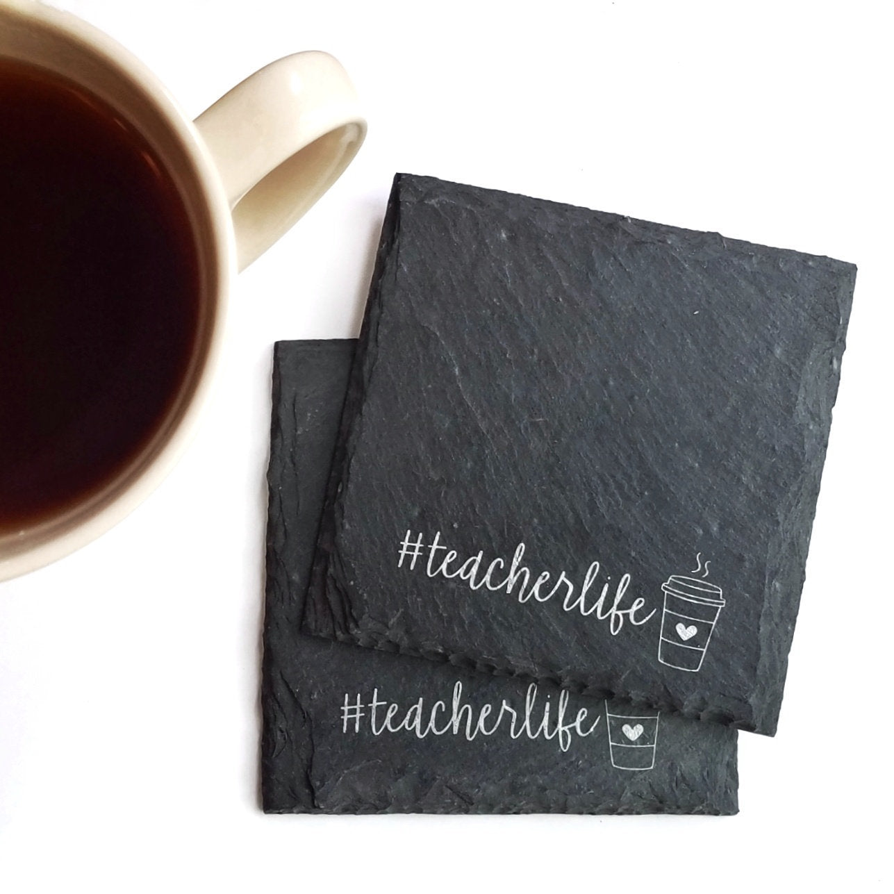 Teacher Life Slate Coaster