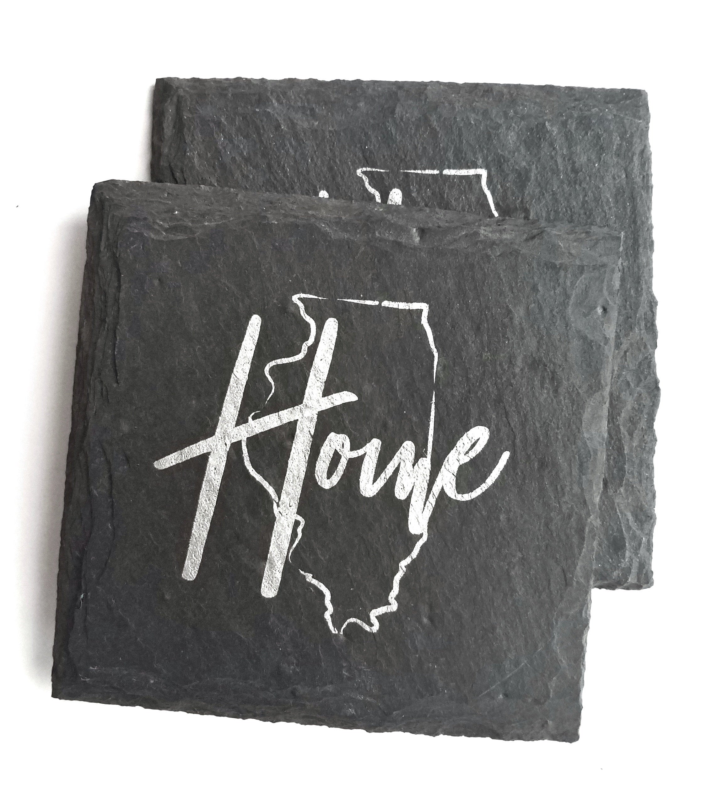 Illinois Home Slate Coaster