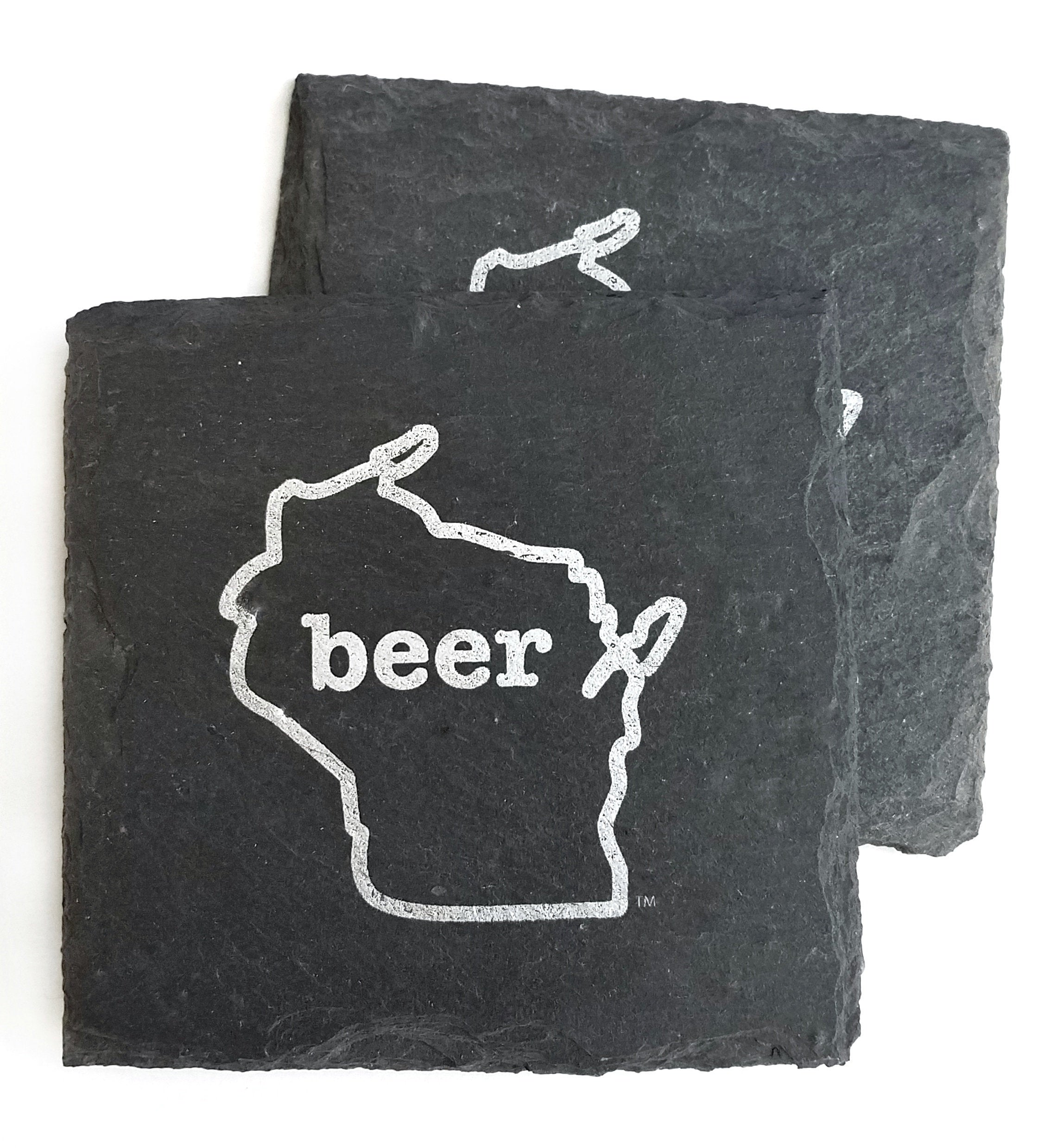 Wisconsin Beer Slate Coaster