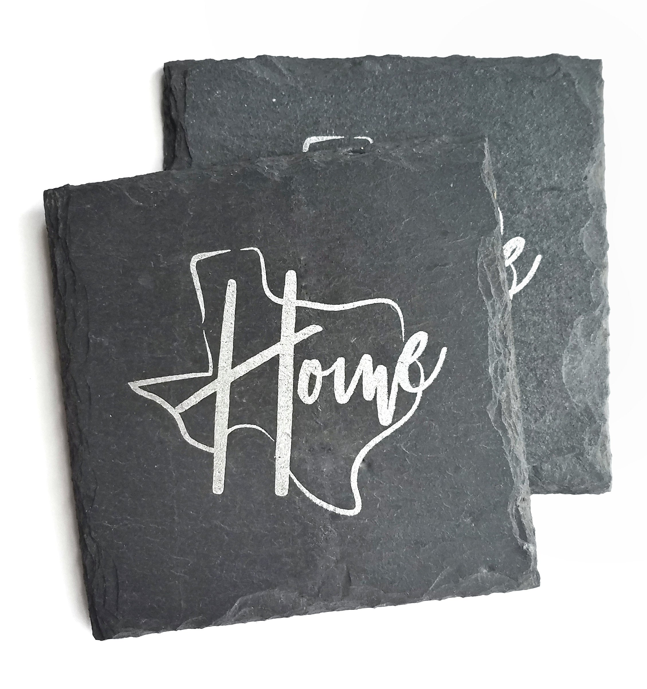 Texas Home Slate Coaster