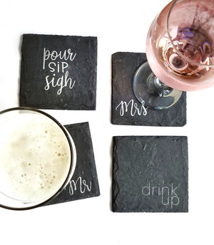Build your own Barware Gift Set with Coasters & Holder