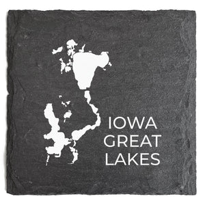 Iowa Great Lakes Slate Coaster
