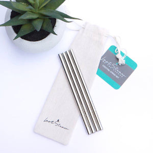 Silver Cocktail Metal Straw