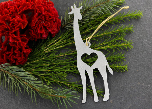 Giraffe Metal Ornament
