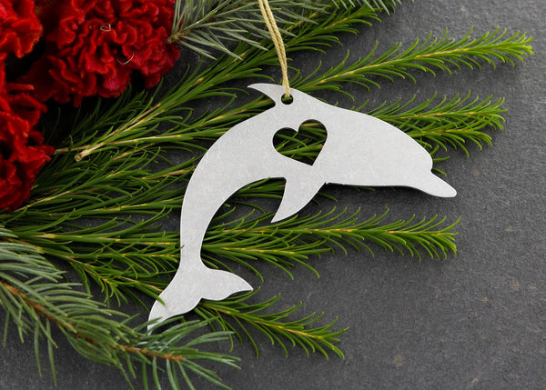 Dolphin Metal Ornament