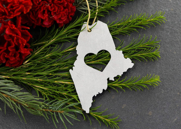 Maine State Metal Ornament