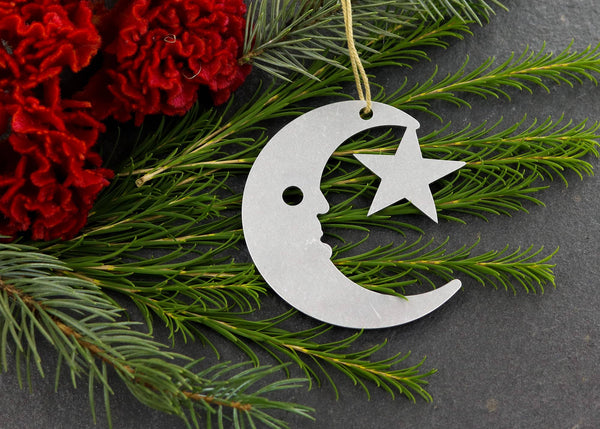Moon And Star Metal Ornaments