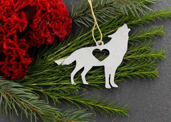 Wolf Metal Ornaments