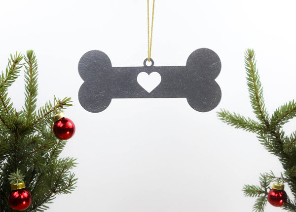 Dog Bone Metal Ornament