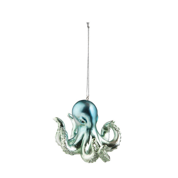 Iridescent Blue Octopus Ornament