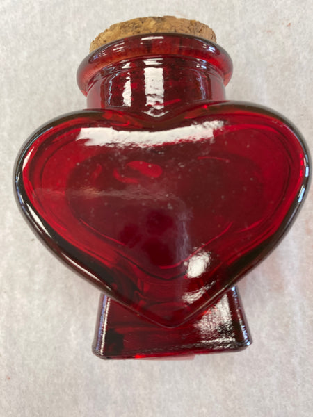 Red Heart Bottle with Cork