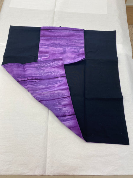 Purple-Black Tarot Cloth with Pocket