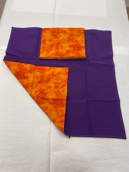 Orange-Purple Tarot Cloth with Pocket
