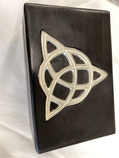 Triquetra Inlaid Wood Box