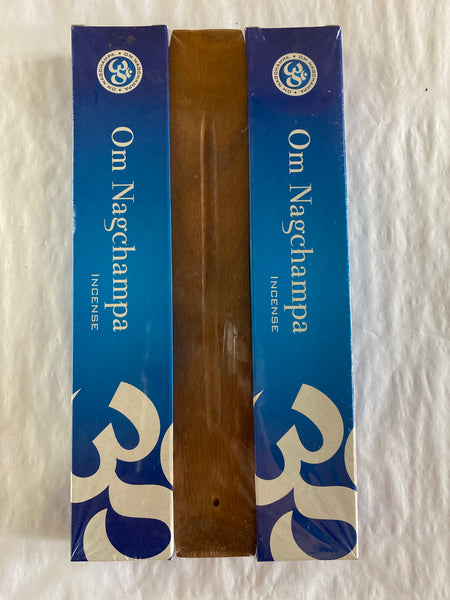Om Nagchampa Incense Stick Gift Pack with Burner