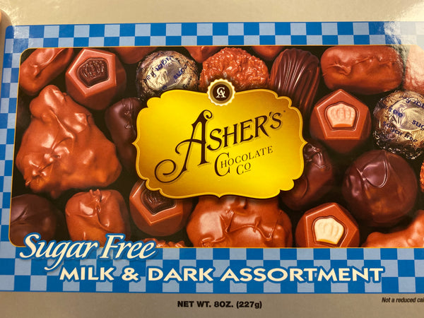 Milk & Dark Chocolate Assortment Sugar Free 8oz Box