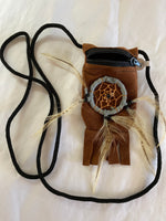 Brown Dream Catcher Pouch