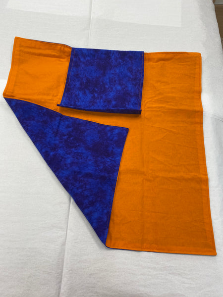 Purple-Orange Tarot Cloth with Pocket