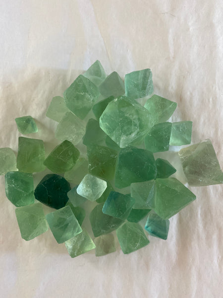 Green Fluorite Cleaver Tumbled
