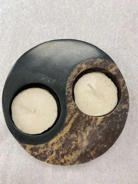 Yin Yang T-Lite Candle Holder