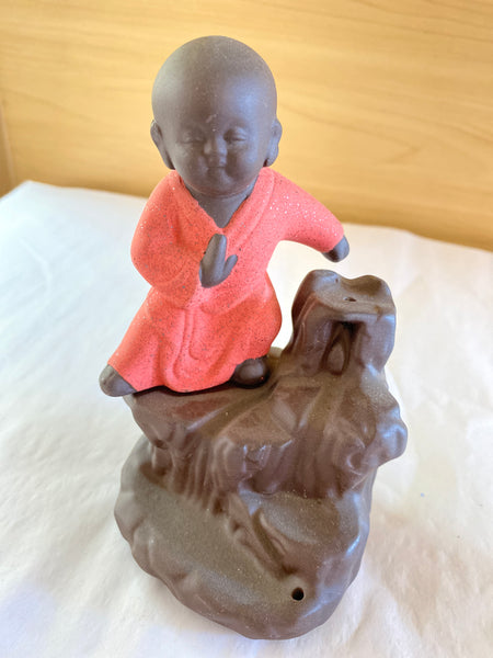 Red Buddha Backflow Incense Burner