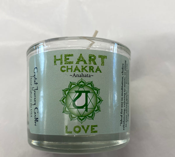 Heart Chakra Glass Votive Soy Candle