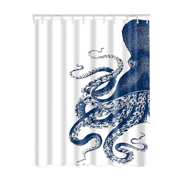 Design Digital Technology Graphic Print Shower Curtain Set