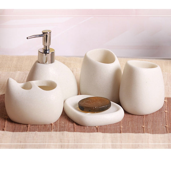 5 Pcs/Set Bathroom Accessories Sets