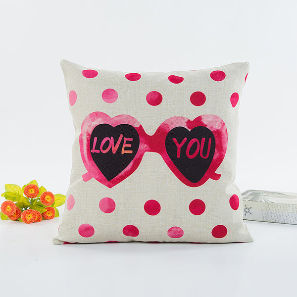 Valentine's Day Flax Pillow
