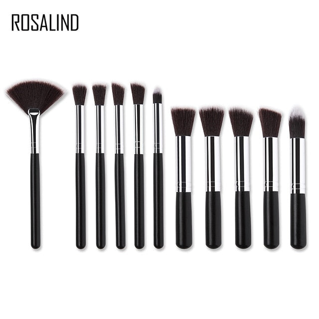 ROSALIND 11PCS eye lips face Make up Brush Set