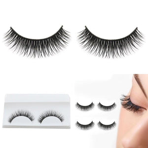 1Pair Natural Beauty Close A Few False Eyelashes for Women