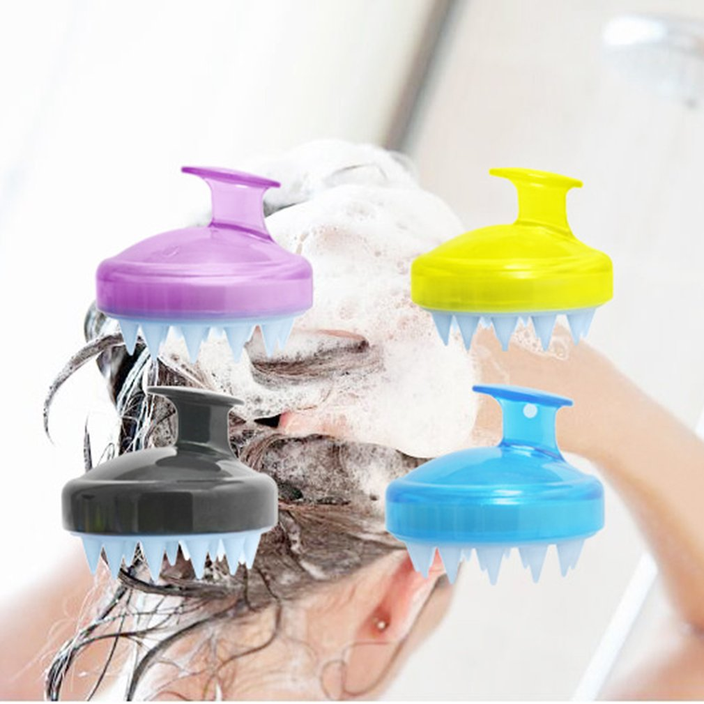 High Quality Silicone Round Shampoo Brush