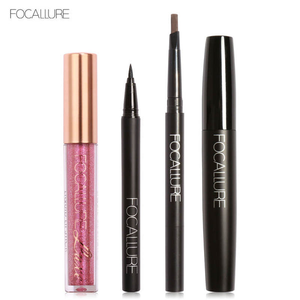FOCALLURE New 4Pcs Easy Lip Makeup Set